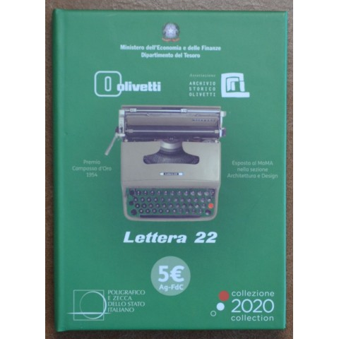 5 Euro Italy 2020 - Green Olivetti Lettera 22 (BU)