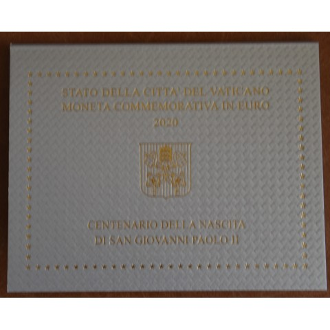 Cover for 2 Euro Vatican 2020 - 100th Anniversary of the Birth of John Paul II.