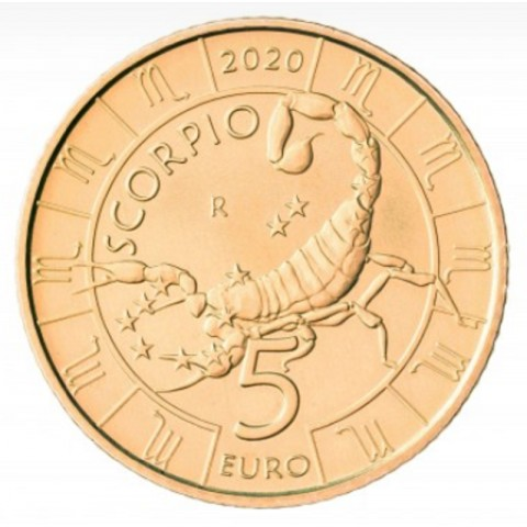 5 Euro San Marino 2020 Zodiac: Scorpio (UNC)
