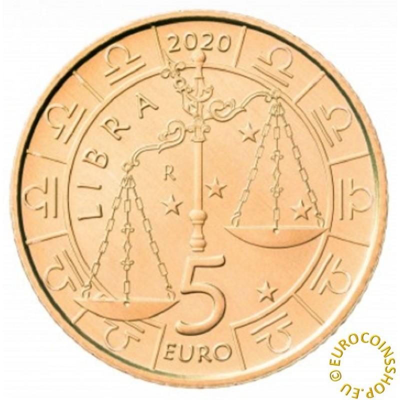 5 Euro San Marino 2020 Zodiac: Libra (UNC)