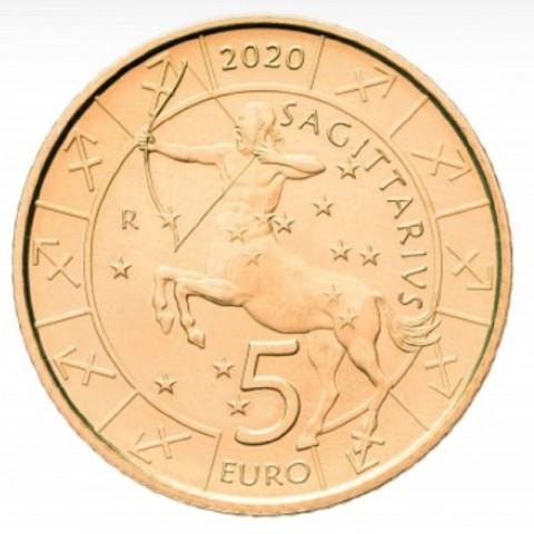 5 Euro San Marino 2020 Zodiac: Sagittarius (UNC)