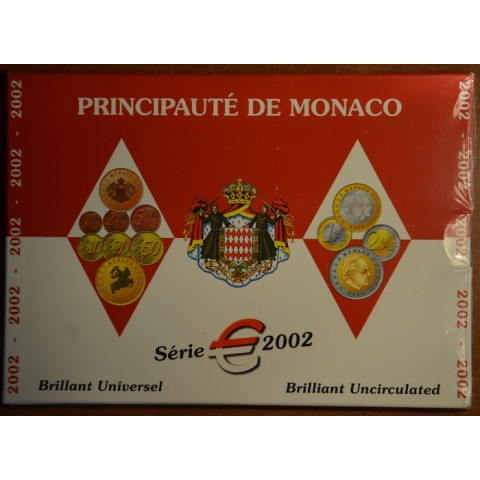 Euro set of 8 coins Monaco 2002 (BU)