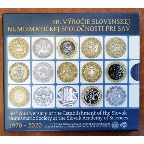 Slovakia 2020 set of coins - 50th anniversary of the Slovak numismatic society (BU)