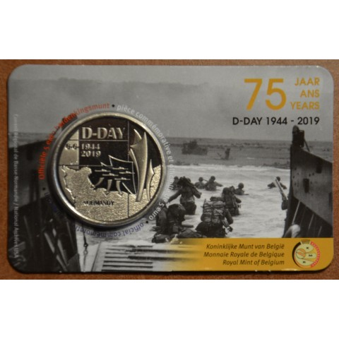 5 Euro Belgium 2019 D-day (BU card)