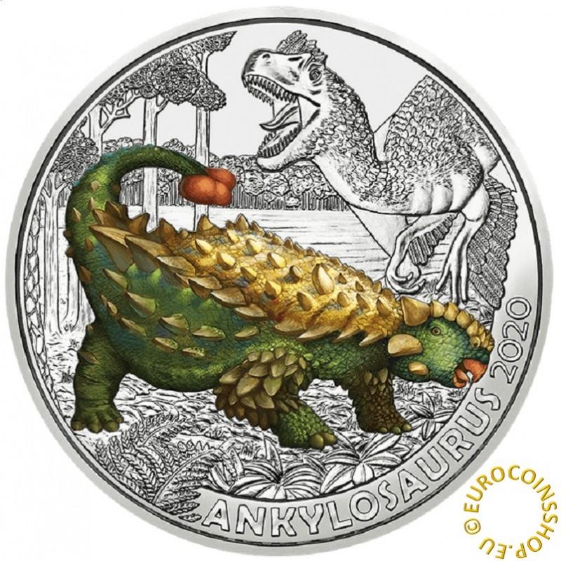 3 Euro Austria 2020 - Ankylosaurus magniventris (UNC)