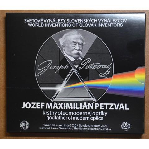 Set of 8 Slovak coins 2020 - Jozef Maximilián Petzval (BU)