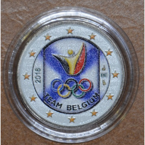 2 Euro Belgium 2016 - Olympic team of Belgium V. (colored UNC)