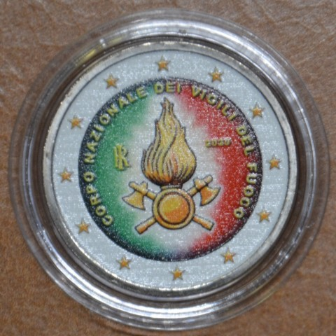 2 Euro Italy 2020 - National Firefighters Corps III. (colored UNC)