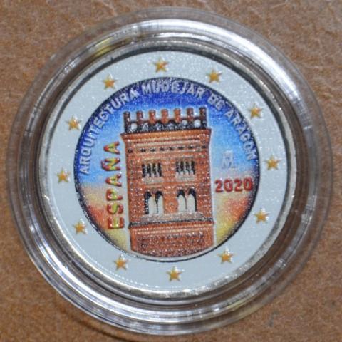 2 Euro Spain 2020 - Mudéjar Architecture of Aragon (colored UNC)