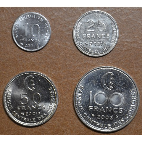 Union of the Comoros 4 coins 2001-2003 (UNC)