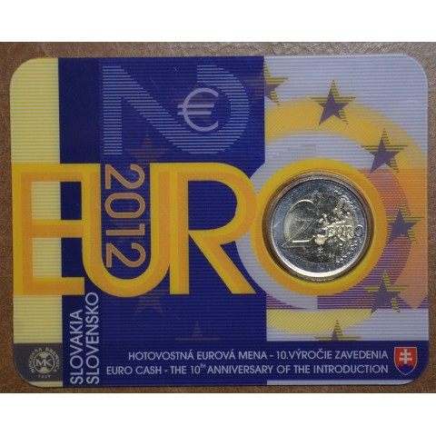 2 Euro Slovakia 2012 - Ten years of Euro (BU card)