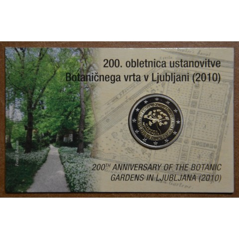 2 Euro Slovenia 2010 - 200th anniversary of the Botanical Garden in Ljubljana (BU card)