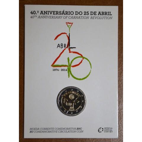 2 Euro Portugal 2014 - Carnation Revolution (BU card)