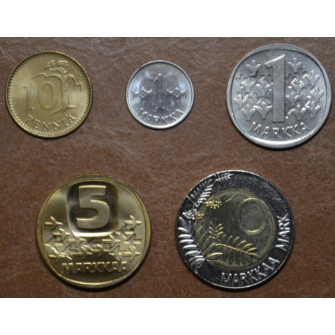 Finland set of 5 coins 1962-2001 (UNC)