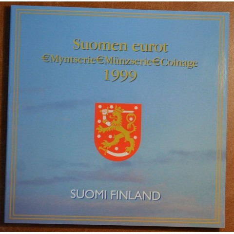 Official set of 8 coins of Finland 1999 (BU)