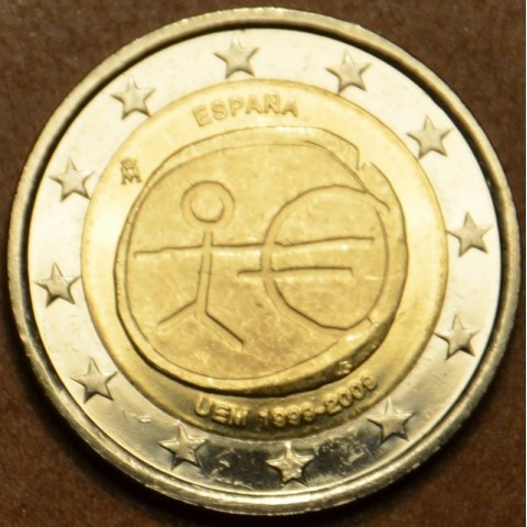 2 Euro Spain 2009 - 10th Anniversary of the Introduction of the Euro BIG STARS (UNC)