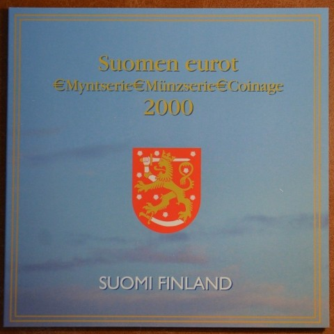 Official set of 8 coins of Finland 2000 (BU)