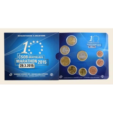 Set of 8 Slovak coins 2015 Marathon of Bratislava (BU)