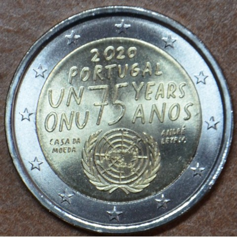 2 Euro Portugal 2020 - 75 years United Nations (UNC)