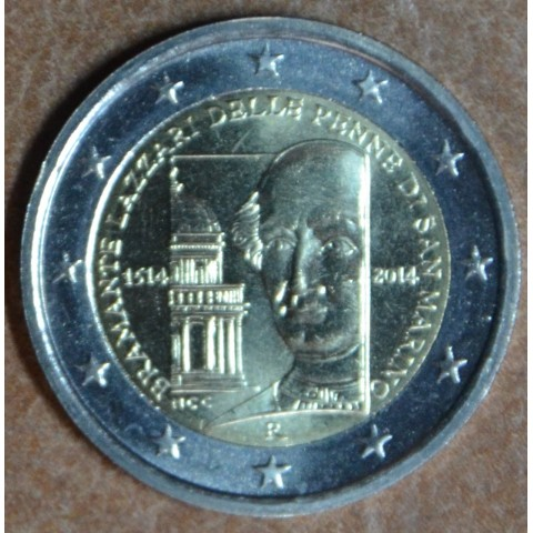 2 Euro San Marino 2014 - 500th anniversary of the death of Donato Bramante (UNC without folder)