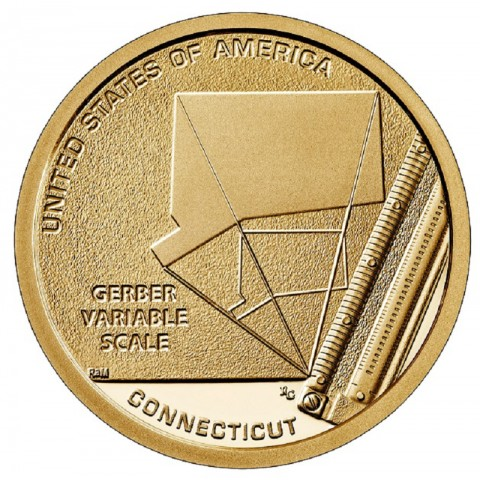 "1 dollar USA ""P"" 2020 American Innovation - Connecticut ""D"" (UNC)"