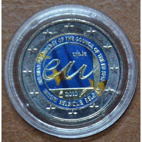 2 Euro Belgium 2010 - Belgian Presidency of the Council of the European Union IV. (UNC colored)