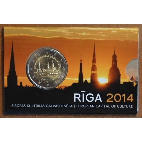 2 Euro Latvia 2014 - Riga European Capital of Culture (BU card)