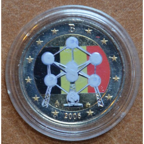 2 Euro Belgium 2006 - Atomium III. (colored UNC)