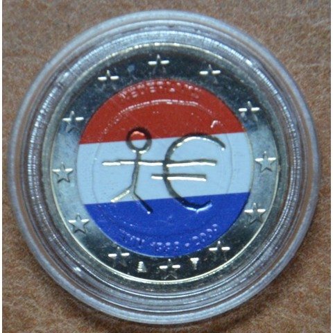 2 Euro Netherlands 2009 - 10th Anniversary of the Introduction of the Euro (colored UNC)