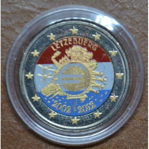 2 Euro Luxembourg 2012 - Ten years of Euro III. (colored UNC)