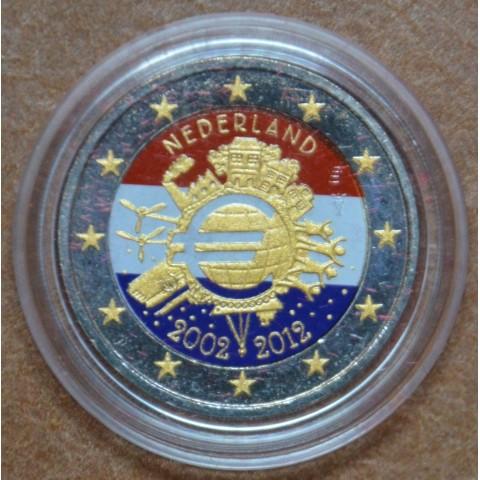 2 Euro Netherlands 2012 - Ten years of Euro III. (colored UNC)