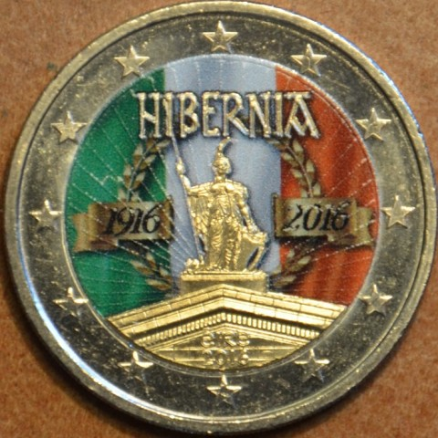 2 Euro Ireland 2016 - 100 years of Easter Rising II.  (colored UNC)