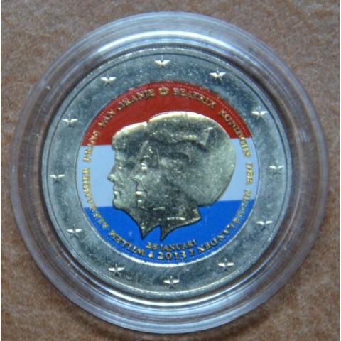 2 Euro Netherlands 2013 - Double portrait VI. (colored UNC)