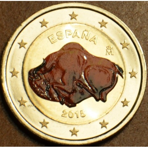 2 Euro Spain 2015 - UNESCO: Caves of Altamira (colored UNC)