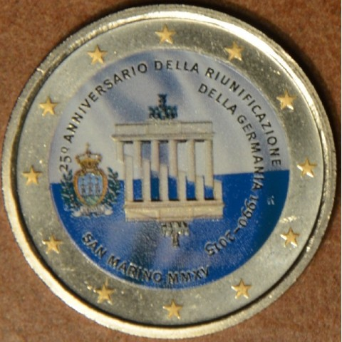 2 Euro San Marino 2015 - German Reunification (colored UNC)