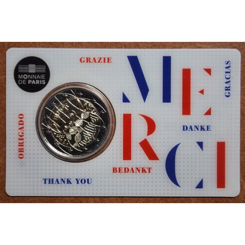 2 Euro France 2020 - Medical research: Merci (UNC)