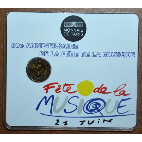 2 Euro France 2011 - 30th anniversary of the Day of Music (BU card)
