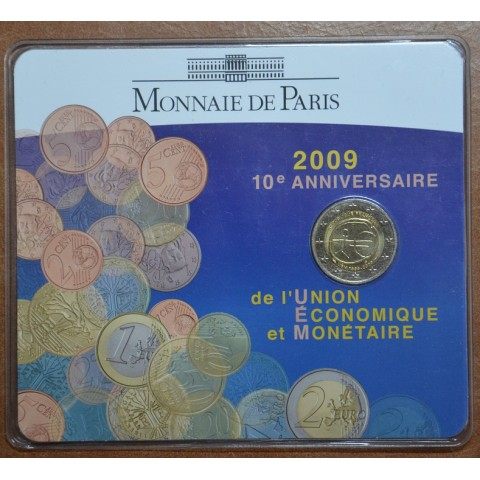 2 Euro France 2009 - 10th Anniversary of the Introduction of the Euro (BU card)