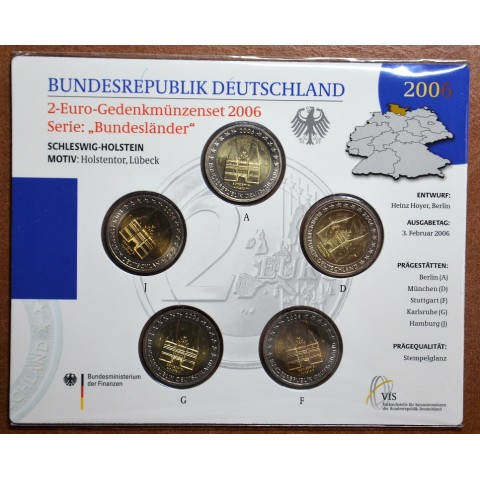 2 Euro Germany 2006 - Holstentor in Lübeck / Schleswig-Holstein (BU card)