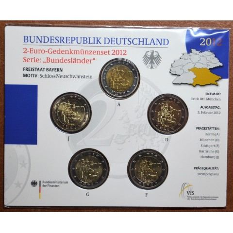 2 Euro Germany 2012 - Bayern: Neuschwanstein (BU card)