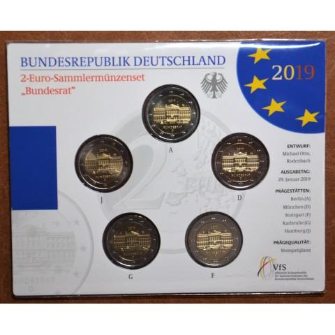 "2 Euro Germany ""ADFGJ"" 2019 - Bundesrat (BU card)"