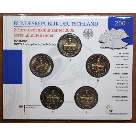 2 Euro Germany 2009 - Ludwigskirche in Saarbrücken (BU card)