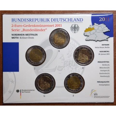 2 Euro Germany 2011 - North Rhine-Westphalia: Cathedral in Köln (BU card)