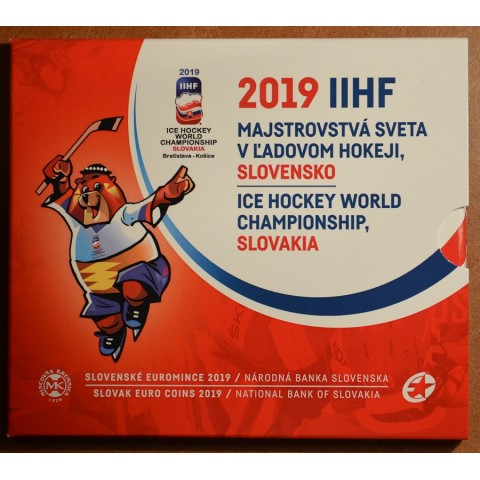Set of 8 Slovak coins 2019 World hockey Championship (BU)