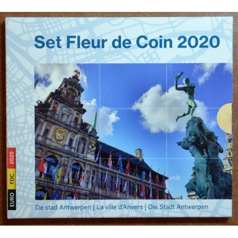 Belgium 2020 official set with 2x 2,50 Euro coins Antwerpen (BU)
