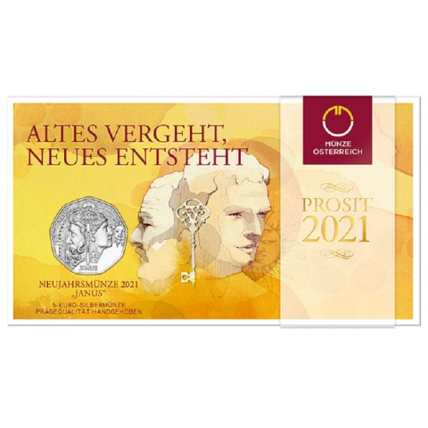5 Euro Austria 2021 - New year coin Janus (BU)