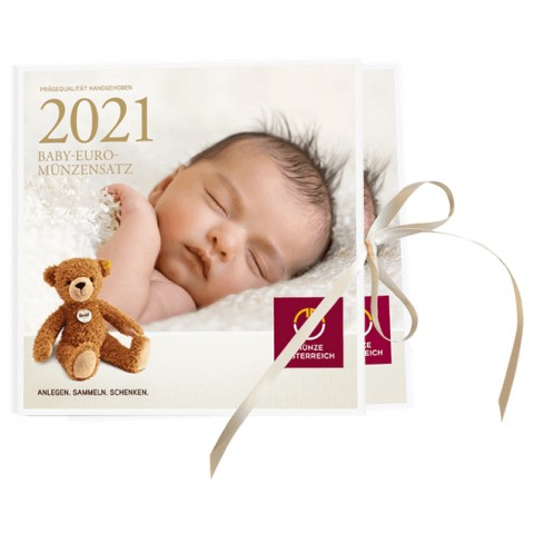 Austria 2021 set of coins baby (BU)