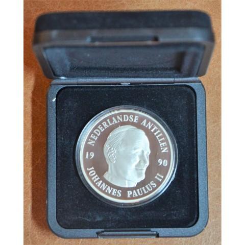 25 gulden Netherlandse Antillen 1990 - Johannes Paulus II. (Proof)