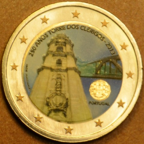 2 Euro Portugal 2013 - 250 Years of the Torre dos Clérigos (colored UNC)
