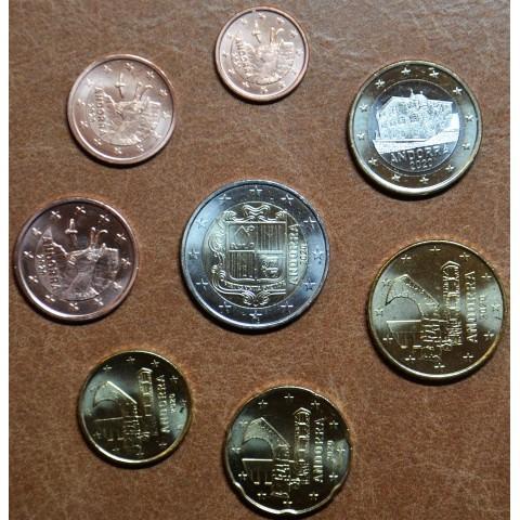 Set of 8 Euro coins Andorra 2020 (UNC)